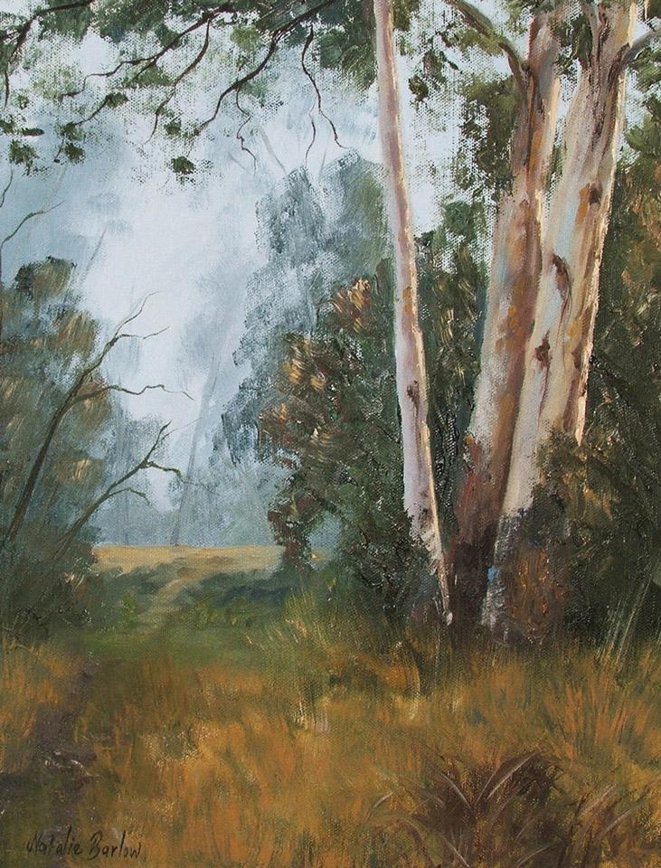 Woori Yallock Mist, Oil 55x48cm, $280