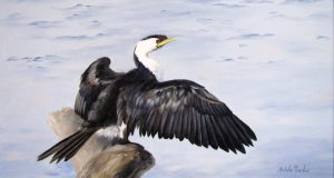 Cormorant, Oil 83x53cm, SOLD