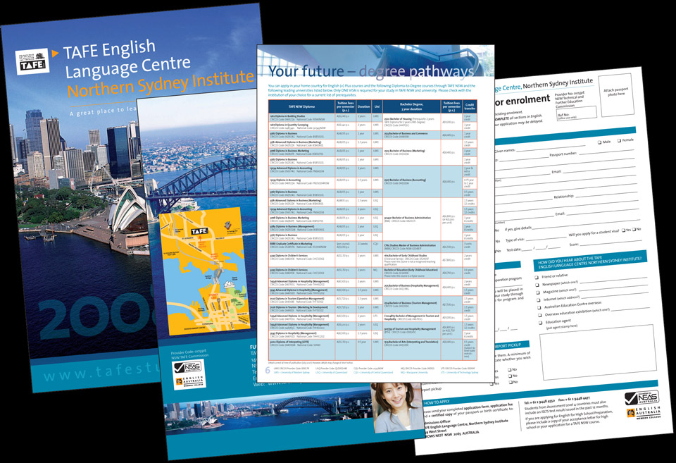 TAFE NSW, English Language Centre brochure