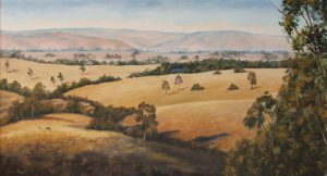 Taggerty in Victoria, Oil 95x150cm, NFS