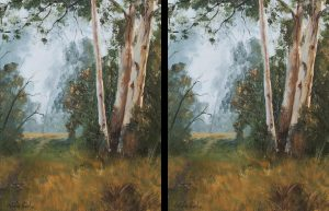 Woori Yallock oil painting mist background