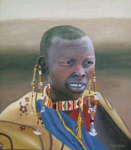 Masai Woman, Oil 75x60cm, $340