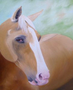 Shandy horse oil painting