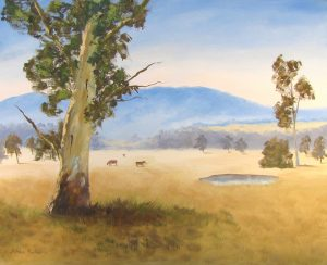 A gum tree oil painting at Seville